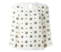 embellished three-quarters sleeve blouse