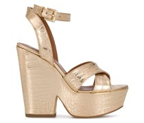 Sandalen mit Plateausohle, 135mm