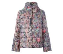 paisley print puffer jacket