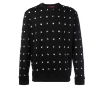 Intarsien-Pullover mit Schwalben