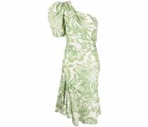 One-Shoulder-Kleid mit tropischem Print