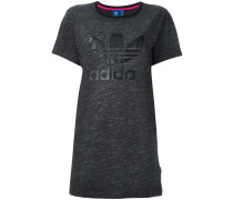 'Trefoil' T-Shirt-Kleid mit Logo-Print