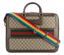 Leather Rainbow Strap GG Briefcase