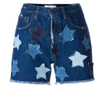 Jeans-Shorts mit Stern-Patches