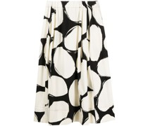 Pebbles print midi skirt