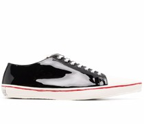 patent leather low-top sneakers