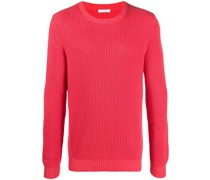 ribbed knit cotton jumper