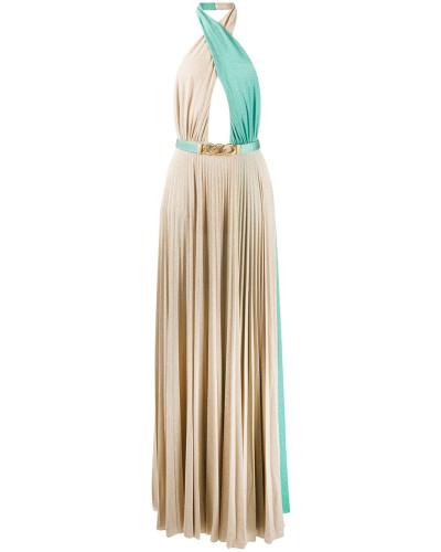 Rückenfreies Kleid mit Falten