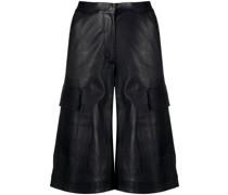 Lange Leder-Shorts