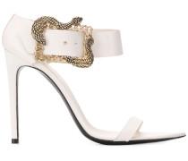 Sandalen mit Schlangen-Schnalle