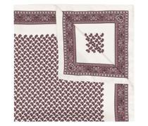bandana print silk scarf