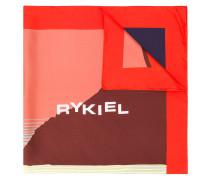 abstract logo print scarf
