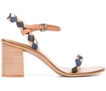- Sandalen mit Rautenmuster - women