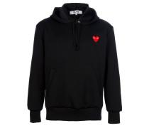 Sweatshirt mit Herzstickerei