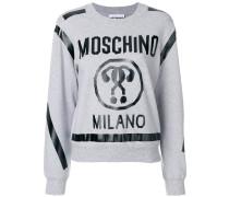 cropped question mark sweatshirt