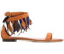 Boho-Sandalen mit Federn