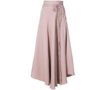 asymmetric belted skirt