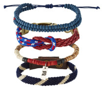 4 PACK Armband blue/red