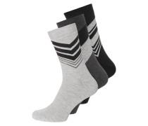 3 PACK Socken grey/white/black