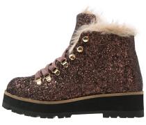 Ankle Boot glitter bronze