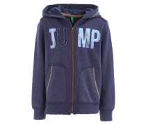 Sweatjacke mottled dark blue