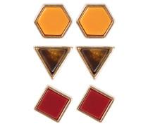 3 PACK - Ohrringe - red/multi-coloured