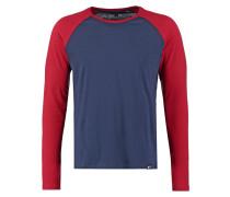 Langarmshirt dark blue/red