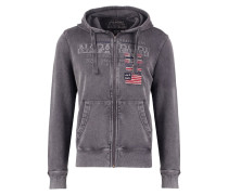 BARADELLO Sweatjacke dark grey solid