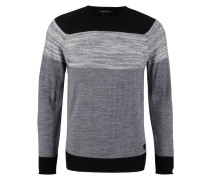 INITIAL Strickpullover grey chine