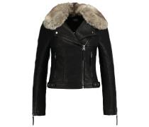 HONEY Kunstlederjacke black
