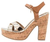 High Heel Sandaletten oro