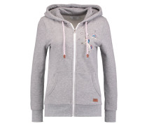 ONLFINLEY Sweatjacke light grey melange