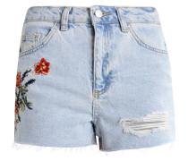 FIRE FLOWER - Jeans Shorts - lightdenim