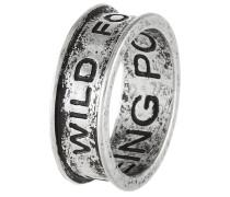 Ring silvercoloured