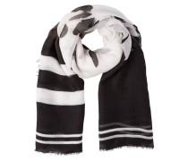Schal white/black