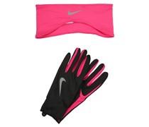 Fingerhandschuh black/vivid pink