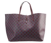 GRINOLAS Shopping Bag bordeaux/petrol