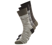 3 PACK Socken dark grey/light grey/black