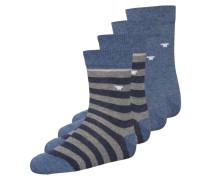 4 PACK Socken light denim melange