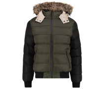 Winterjacke khaki/black