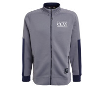 CLAY Sweatjacke graphite/white