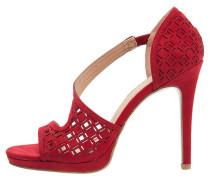 High Heel Sandaletten bordeaux
