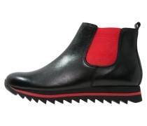 Plateaustiefelette schwarz/rot