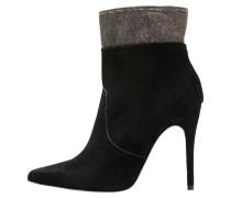 High Heel Stiefelette nero/bronze