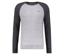 FALEM Strickpullover grey baseball