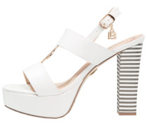 High Heel Sandaletten white