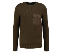 Strickpullover - dark khaki