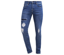 SNAP Jeans Slim Fit mid blue ripped