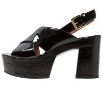 Plateausandalette black