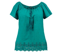 BRODERIE ANGLAISE FRILL - Bluse - turquoise